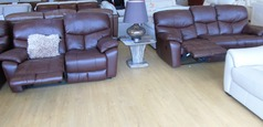 Pembroke recliner 3 seater and 2 seater mid brown £1499 (NEWPORT STORE) - Click for more details