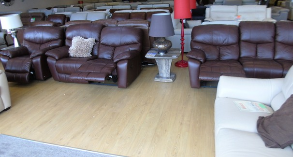 Pembroke recliner 3 seater, 2 seater and electric recliner chair mid brown (NEWPORT STORE)