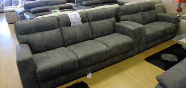Faro 3 seater and 2 seater grey £899 (NEWPORT STORE)