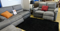 Geneva electrIc recliner 3 seater and 2 seater grey £1699 (NEWPORT STORE) - Click for more details