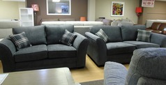 Chatsworth 3 seater and 2 seater dark grey £999 (SWANSEA SUPERSTORE) - Click for more details
