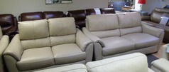 Avon 3 seater and 2 seater beige £1799 (SWANSEA SUPERSTORE) - Click for more details