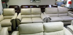 Avon 3 seater, 2 seater and electric recliner chair beige £2299 (SWANSEA SUPERSTORE) - Click for more details