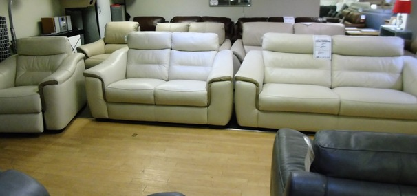 Luxembourg 3 seater and 2 seater light  beige  £1799 (SWANSEA SUPERSTORE )
