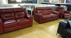 Somerset 3 seater, 2 seater and electric reclienr chair red £2299 (SWANSEA SUPERSTORE) - Click for more details