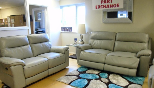 Rochelle electric 3 seater and 2 seater grey £2599 (SWANSEA SUPERSTORE)