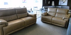 Pavia 3 seater and 2 seater sand £2999 (SWANSEA SUPERSTORE) - Click for more details