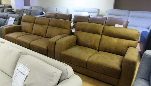 Faro 3 seater and 2 seater tan £899 (SWANSEA SUPERSTORE)