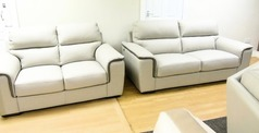 NEW TREND cream leather 3 seater and 2 seater £1999 (SWANSEA SUPERSTORE) - Click for more details