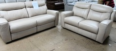 Grenoble electric recliner 3 seater and 2 seater biscuit £1499 (SWANSEA SUPERSTORE) - Click for more details