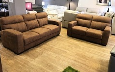 FARO 3 seater and 2 seater vintage tan £899 (SWANSEA SUPERSTORE) - Click for more details