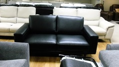Vittoria 2 seater sofa black £399 (CARDIFF SUPERSTORE) - Click for more details