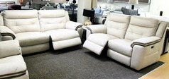 Miami electric recliner 3 seater and 2 seater bisque £799 (CARDIFF SUPERSTORE) - Click for more details