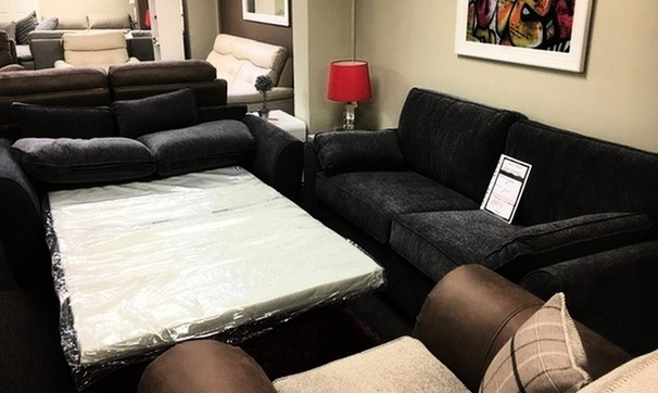 Roma 3 seater and 2 seater sofa bed grey £699 (CARDIFF SUPERSTORE)