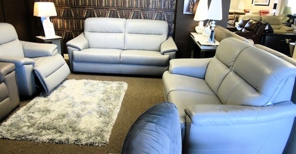 Genoa 3 seater, 2 seater and triple electric recliner chair grey £1999 (CARDIFF SUPERSTORE)