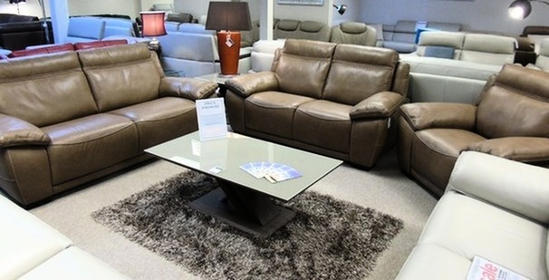 TORINO  3 seater, 2 seater and chair  beige £1999 (CARDIFF-SUPERSTORE)