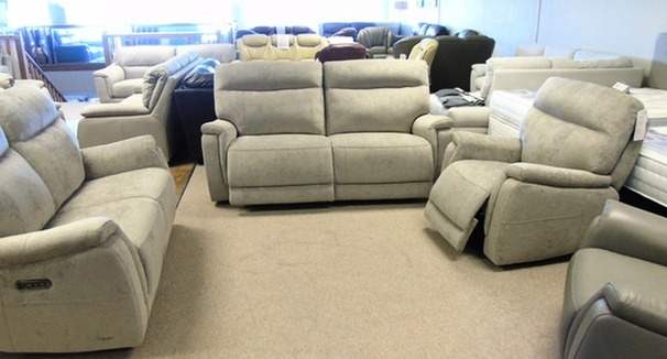 Granada electric recliner 3 seater, 2 seater and chair grey £1499 (CARDIFF SUPERSTORE)