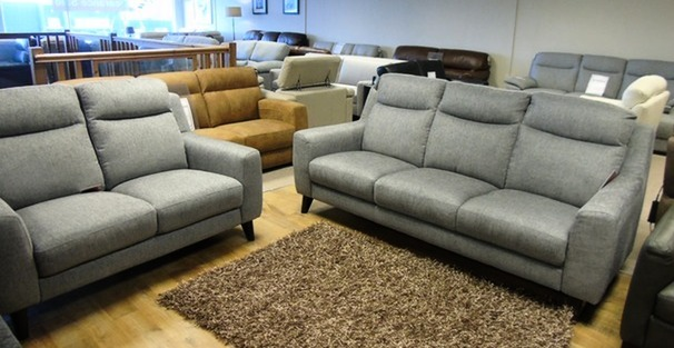 Newbury 3 seater and 2 seater grey £899 (CARDIFF SUPERSTORE)
