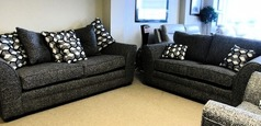 LOREEN 3 seater and 2 seater grey £899 (CARDIFF SUPERSTORE) - Click for more details