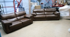 Rosa 3 seater and 2 seater mid brown £1799 (CARDIFF SUPERSTORE) - Click for more details