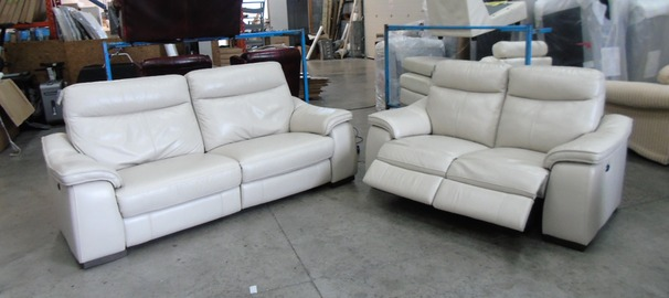 Marseille electric recliner 3 seater and 2 seater grey £1499 (SWANSEASUPERSTORE)