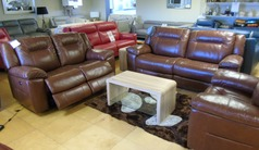 Lydstep electric recliner 3 seater and 2 seater  chestnut tan £2799.00 (SWANSEA SUPERSTORE) - Click for more details