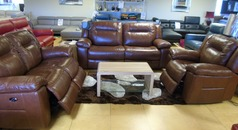Lydstep electric recliner 3 seater, 2 seater and electric recliner chair  chestnut tan £3499.00 - Click for more details