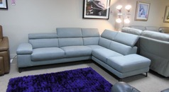 Salon corner suite grey £1499 (CARDIFF SUPERSTORE) - Click for more details