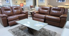 Lydstep electric recliner 3 seater and 2 seater mid brown £2799 (CARDIFF SUPERSTORE) - Click for more details