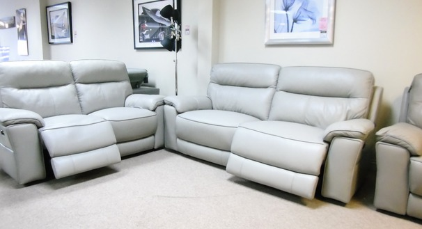 Rochelle electric recliner 3 seater and 2 seater grey £2799 (CARDIFF SUPERSTORE)