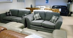 Chatsworth 3 seater and 2 seater grey fabric £999 (CARDIFF SUPERSTORE) - Click for more details