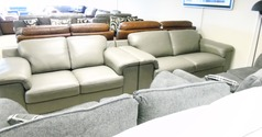 Madrid 3 seater and 2 seater grey £2199 (CARDIFF SUPERSTORE) - Click for more details