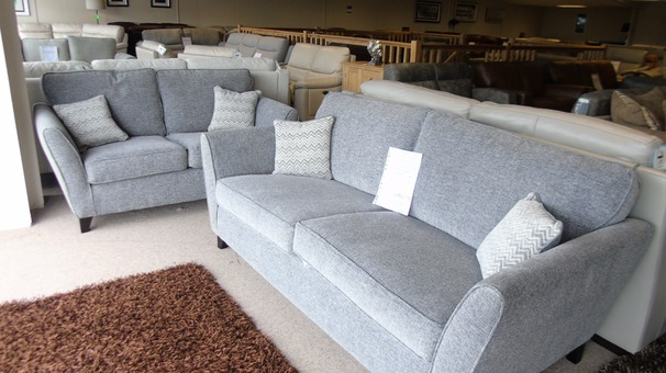 VESTRA 3 seater and 2 seater grey £999 (CARDIFF SUPERSTORE)