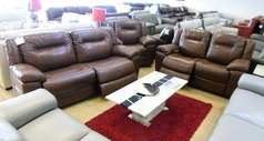 Lydstep electric recliner 3 seater and 2 seater mid brown £2799 (NEWPORT STORE) - Click for more details