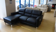 Black chaise sofa £1199 (NEWPORT STORE) - Click for more details