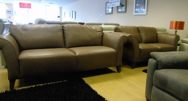 Palermo 3 seater and 2 seater sand £1799 (NEWPORT STORE)