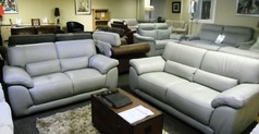BARESI  3 seater and 2 seater grey £1699 (SWANSEA SUPERSTORE() - Click for more details