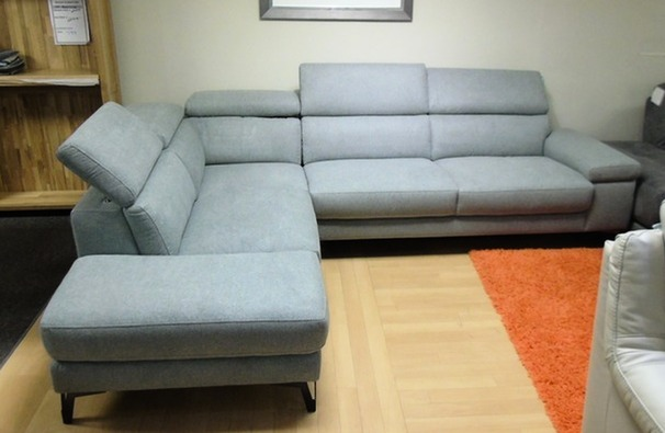 SALON Corner suite grey £1499 (SWANSEA SUPERSTORE)