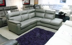Modesto corner suite grey £999 (SWANSEA SUPERSTORE) - Click for more details