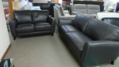 RENO 3 seater and 2 seater dark grey £1199 (SWANSEA SUPERSTORE) - Click for more details