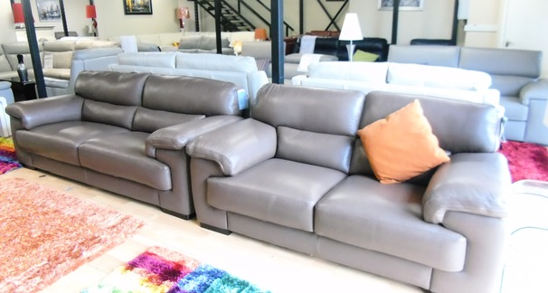 Rosa 3 seater and 2 seater mink brown £2199 (SWANSEA SUPERSTORE)
