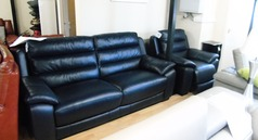 Charlotte 3 seater and 1 electric recliner chair £1499 (SWANSEA SUPERSTORE) - Click for more details