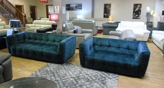 London 3 seater and 2 seater blue £1499 (SWANSEA SUPERSTORE) - Click for more details