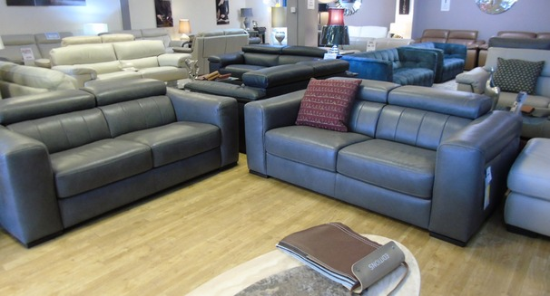 Bellini 2 seater and 2 seater dark grey £2799 (SWANSEA SUPERSTORE)