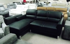 San Remo chaise sofa black £1199 (SWANSEA SUPERSTORE) - Click for more details