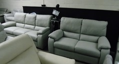 Calia 3 seater and 2 seater light grey £1999 (SWANSEASUPERSTORE) - Click for more details
