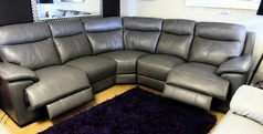 Paris electric recliner 3 seater and 2 seater electric recliner dark  grey £1999 (SUPERSTORE) - Click for more details