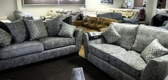 Asford 3 seater and 2 seater grey £1199 (SWANSEA SUPERSTORE) - Click for more details