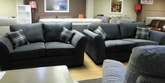 Chatsworth 3 seater and 2 seater grey £999 (SWANSEA SUPERSTORE) - Click for more details