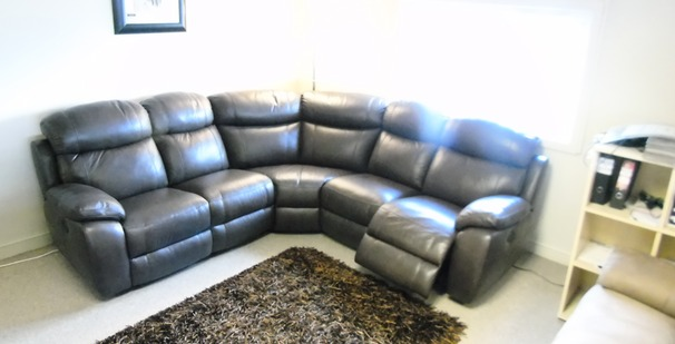 Barcelona double electric recliner corner suite £1999 (CARDIFF SUPERSTORE)